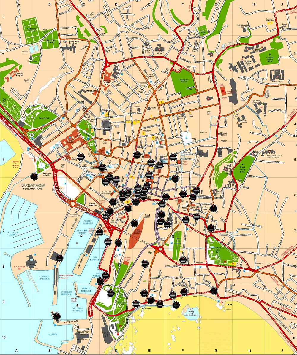 St. Helier map