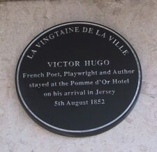 Victor Hugo Plaque on the Pomme D'Or Hotel